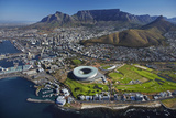 Aerial of Stadium, Golf Club, Table Mountain, Cape Town, South Africa Fotografisk tryk af David Wall