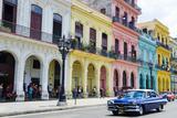 Pastel Buildings Near City Center, Havana, Cuba Photographic Print by Bill Bachmann