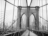 Brooklyn Bridge, 1948, New York, USA Impressão fotográfica por Peter Bennett