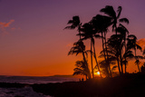 Sunset at Poipu Beach, Kauai, Hawaii, USA Fotoprint van Richard Duval