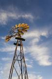 Vintage Farm Windmills at Sunset, Elk City, Oklahoma, USA Photographic Print by Walter Bibikow