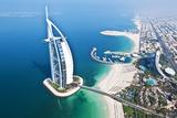 Aerial View of the Burj Al Arab, Dubai, United Arab Emirates Fotografisk tryk af Bill Bachmann