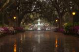 Forsyth Park Fountain with Spring Azaleas, Savannah, Georgia, USA Reproduction photographique Premium par Joanne Wells