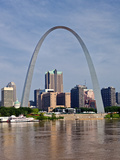 The St Louis Arch from the Mississippi River, Missouri, USA Fotografisk trykk av Joe Restuccia III