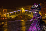 Elaborate Costume for Carnival Festival, Venice, Italy Photographic Print by  Jaynes Gallery