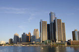 Sunrise over Downtown Detroit, Michigan, USA Photographic Print by Cindy Miller Hopkins