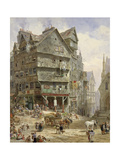 The High Street from the West Bow, Edinburgh Giclee Print by Louise J. Rayner