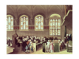 The Court of Chancery, Lincoln's Inn Fields, 1808 from Ackermann's 'Microcosm of London' Giclee Print by T. & Pugin Rowlandson