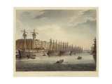 West India Docks Giclee Print by T. & Pugin Rowlandson