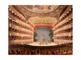 The Opera House, London, from Ackermann's 'Repository of Arts', 1809 Giclee Print by T. & Pugin Rowlandson