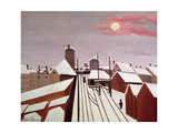 The Railway Giclée-tryk af Henri Rousseau