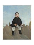 Boy on the Rocks, 1895-97 Giclée-tryk af Henri Rousseau