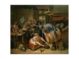 The Last Drop Giclée-tryk af Jan Havicksz. Steen