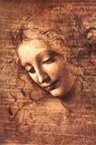 女の頭部(ラ・スカピリアータ) 1508年 アートポスター : レオナルド・ダ・ヴィンチ