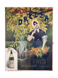 Poster Advertising 'Eau D'Orezza', Natural Mineral Water Giclee Print by P. Ribera