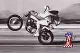 Evel Knievel- Wheelie Kunstdrucke