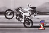Evel Knievel- Wheelie Poster