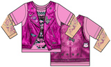 Toddler: Pink Biker Costume Tee Camisetas