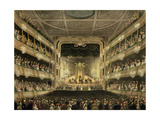 Covent Garden Theatre, 1808, from 'Ackermann's Microcosm of London' Engraved by J. Bluck… Giclee Print by T. & Pugin Rowlandson