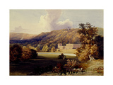 View of Chatsworth Giclee Print by Samuel A. Rayner