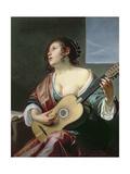 Woman with a Lute Lámina giclée por Jan Gerritsz. van Bronckhorst
