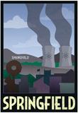 Springfield Retro Travel Poster Plakater