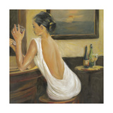 Woman in White 2 Premium Giclee-trykk av Sandra Smith