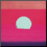 Sunset, c.1972 40/40 (fuchsia) Mounted Print by Andy Warhol