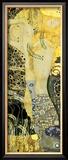 Vattenormar I, ca 1907 Inramat gicléetryck av Gustav Klimt