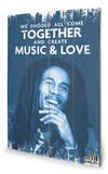 Bob Marley - Music & Love Wood Sign Holzschild