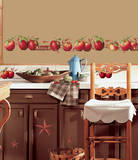 Country Apples Peel & Stick Wall Decals Veggoverføringsbilde