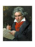Ludwig Van Beethoven Composing His 'Missa Solemnis', 1820 Giclee-trykk av Joseph Karl Stieler