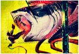 Graffiti Shark 5 Pointz New York City Stampe