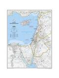 2008 Eastern Mediterranean Map Láminas por  National Geographic Maps