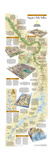 2005 Egypts Nile Valley South Map Poster von  National Geographic Maps