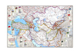 1999 Caspian Region, Promise and Peril Art by  National Geographic Maps