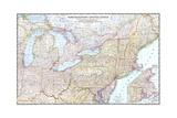 1945 Northeastern United States Posters tekijänä  National Geographic Maps