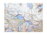 1963 Central Canada Premium Giclee-trykk av  National Geographic Maps