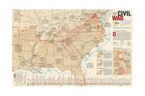 2005 Battles of the Civil War Kunstdrucke von  National Geographic Maps