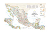 2007 Mexico and Central America Kunstdrucke von  National Geographic Maps