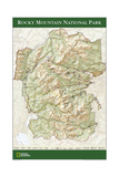 2005 Rocky Mountain National Park Map Premium Giclee-trykk av  National Geographic Maps
