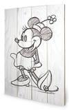 Minnie Mouse Sketched - Single Wood Sign Træskilt