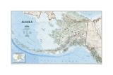 2002 Alaska Map Plakat av  National Geographic Maps