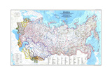 1993 Russia and the Newly Independent Nations of the Former Soviet Union Plakater av  National Geographic Maps