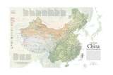2008 China, Journey of Rock and Water Láminas por  National Geographic Maps