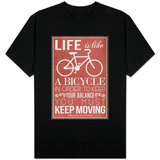 Life Is Like a Bicycle T-skjorte