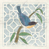 Monument Etching Tile I Blue Bird Posters af Hugo Wild