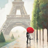 Paris Romance II Poster av Marco Fabiano