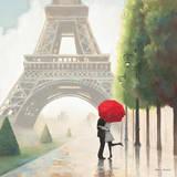 Paris Romance II Kunstdruck von Marco Fabiano