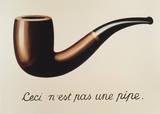 Het verraad van de voorstelling Print van Rene Magritte